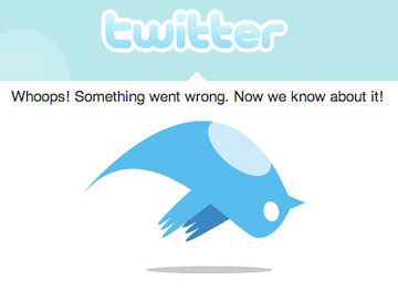 Twitter error message